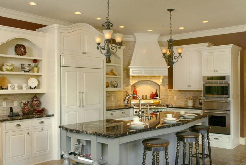 25 home plans with dream kitchen designs for Dream kitchen floor plans