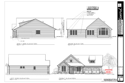 exterior elevations - Exterior House Plans